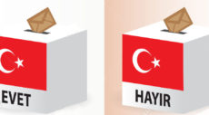 yes or no vote poll ballot box for the Turkish referendum election